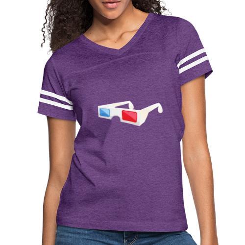 3D glasses - Women's Vintage Sport T-Shirt