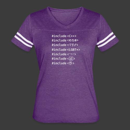 White Include List - Women's Vintage Sport T-Shirt