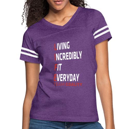 Goality Life Tshirt Red - Women's Vintage Sport T-Shirt