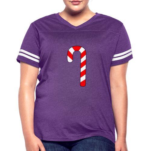 Candy Cane - Women's Vintage Sport T-Shirt