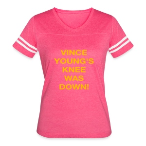 Vince Young's Knee Was Down - Women's Vintage Sport T-Shirt