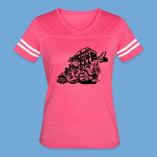 White's Pit Stop - Black - Women's Vintage Sport T-Shirt
