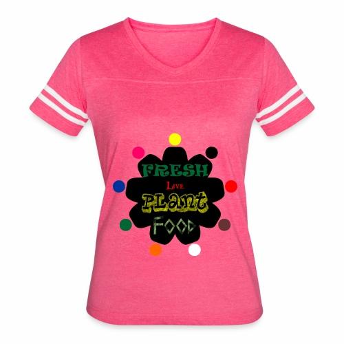 Vegan custom t shirt design - Women's Vintage Sport T-Shirt