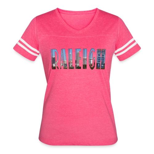 Raleigh Skyline Fall - Women's Vintage Sport T-Shirt