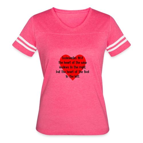Ecclesiasties 10:2 - Women's Vintage Sport T-Shirt
