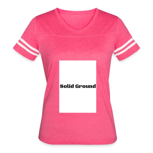Solid Ground Print - Women's Vintage Sport T-Shirt