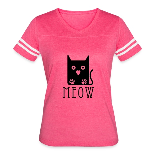 Cat Meow - Women's Vintage Sport T-Shirt