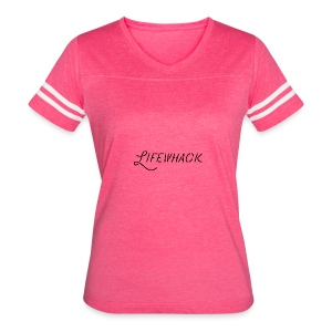 Black Lifewhack Logo Products - Women's Vintage Sport T-Shirt