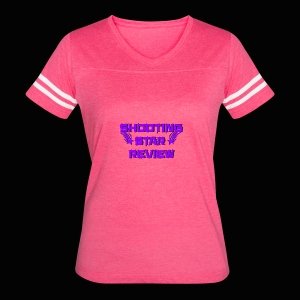 Shooting Star Review Purple Logo - Women's Vintage Sport T-Shirt