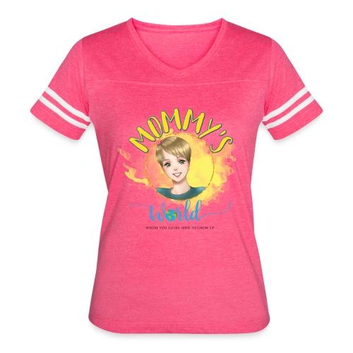 Mommys World Main Logo - Women's Vintage Sport T-Shirt