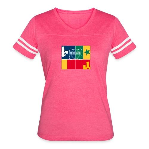 Creole Woman Louisiana Cultural Flag - Women's Vintage Sport T-Shirt