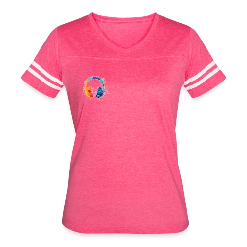 Colourful headset - Women's Vintage Sport T-Shirt