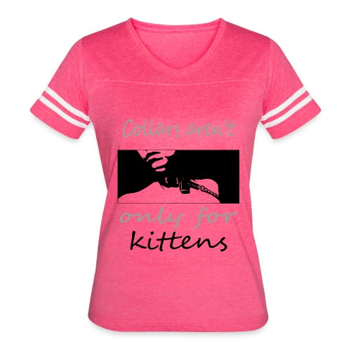 collard kitten - Women's Vintage Sport T-Shirt