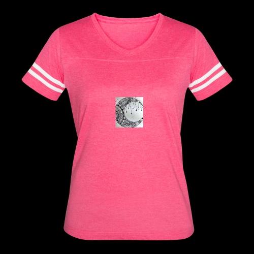 Black Grey Dream Moon Catcher - Women's Vintage Sport T-Shirt