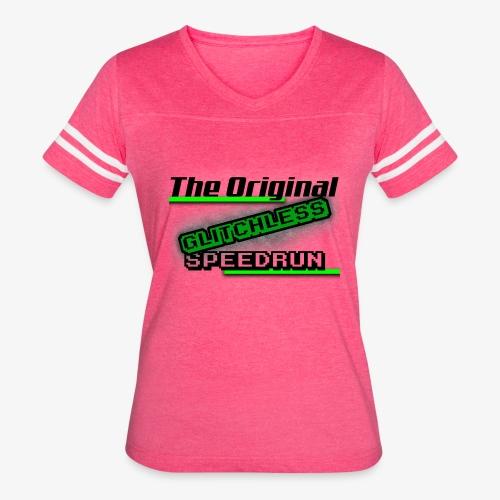 The Original Glitchless Speedrun - Women's Vintage Sport T-Shirt