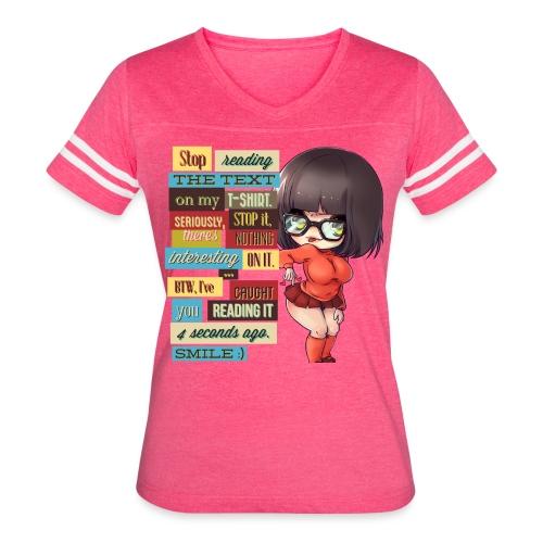 CAUGHT YOU - Women's Vintage Sport T-Shirt