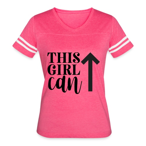 this girl can - Women's Vintage Sport T-Shirt