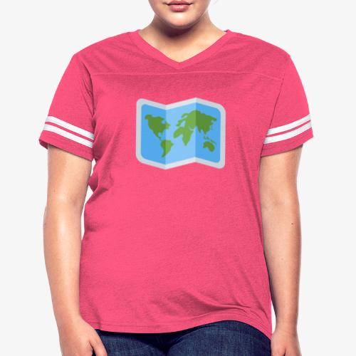 Awesome artsy Earth map - Women's Vintage Sport T-Shirt