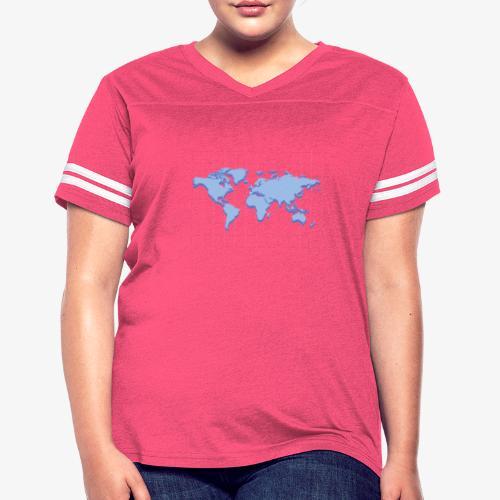 Blue Earth Map - Women's Vintage Sport T-Shirt