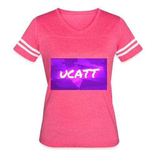 UCATT Logo - Women's Vintage Sport T-Shirt