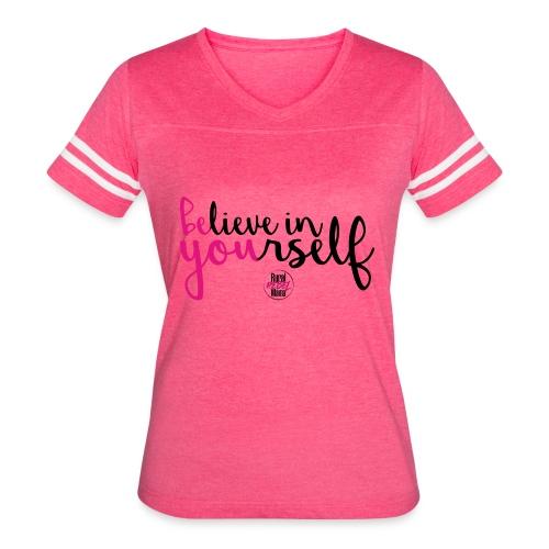 BE YOU shirt design w logo - Women's Vintage Sport T-Shirt