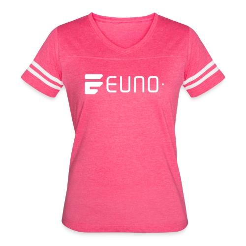 EUNO LOGO LANDSCAPE WHITE - Women's Vintage Sport T-Shirt