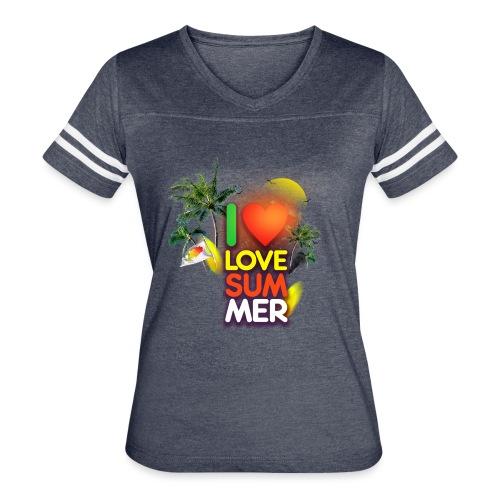 I love summer - Women's Vintage Sport T-Shirt