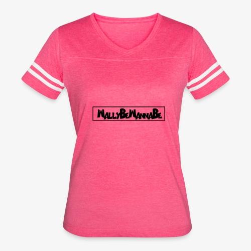 WallyBeWannaBe Black - Women's Vintage Sport T-Shirt