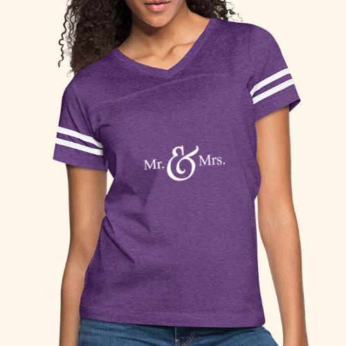 MR.& MRS . TEE SHIRT - Women's Vintage Sport T-Shirt