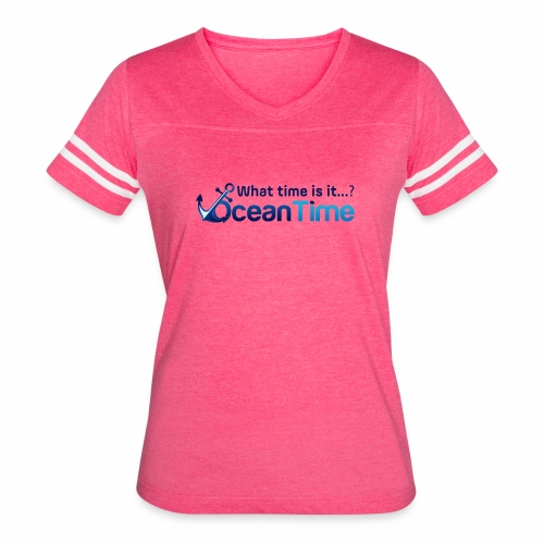What Time is it? Ocean Time! - Women's Vintage Sport T-Shirt