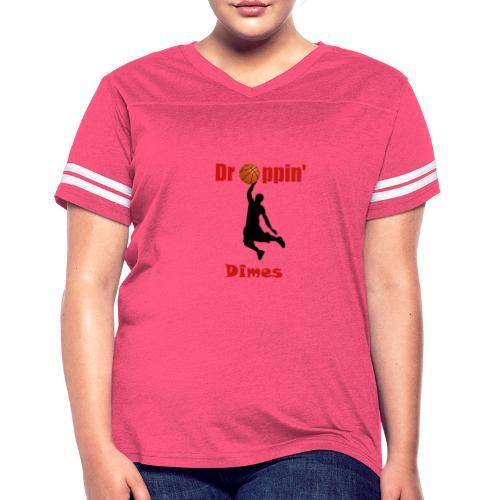 Basketball tshirt| Dropping Dimes |Dunk - Women's Vintage Sport T-Shirt