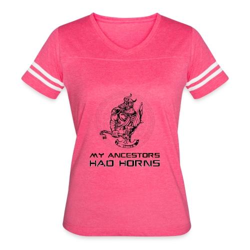 horned helmet tshirt design 2 - Women's Vintage Sport T-Shirt