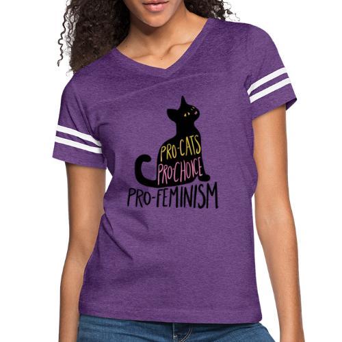 Pro-cats pro-choice pro-feminism - Women's Vintage Sport T-Shirt