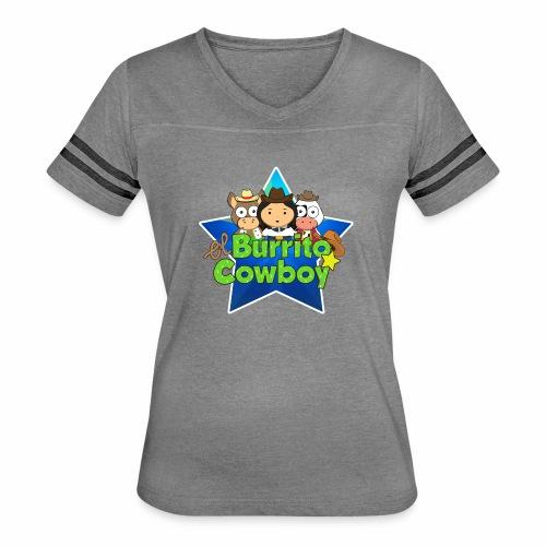 El Burrito Cowboy Star - Women's Vintage Sport T-Shirt