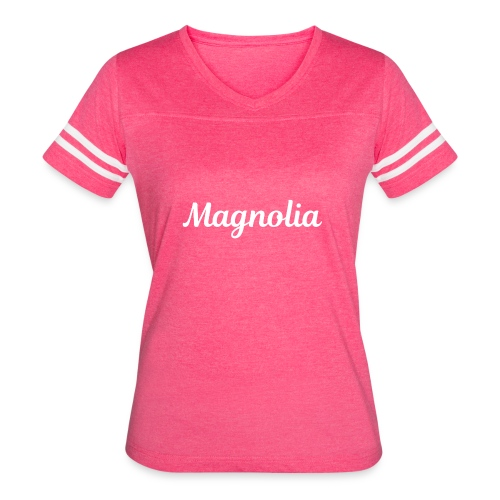 Magnolia Abstract Design. - Women's Vintage Sport T-Shirt