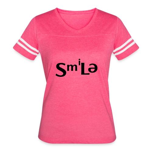 Smile Abstract Design - Women's Vintage Sport T-Shirt