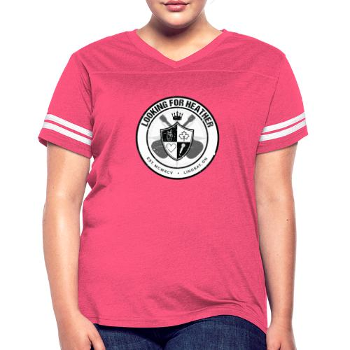 Looking For Heather - Crest Logo - Women's Vintage Sport T-Shirt
