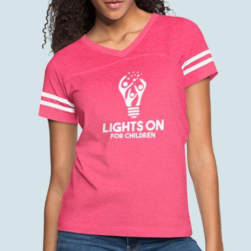 LOFC white - Women's Vintage Sports T-Shirt
