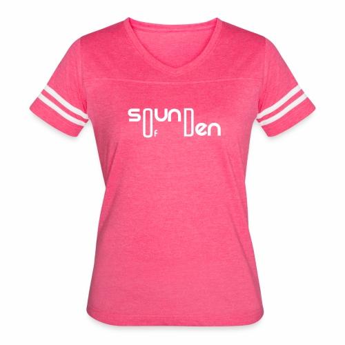 Soundofden The white classical Logo - Women's Vintage Sport T-Shirt