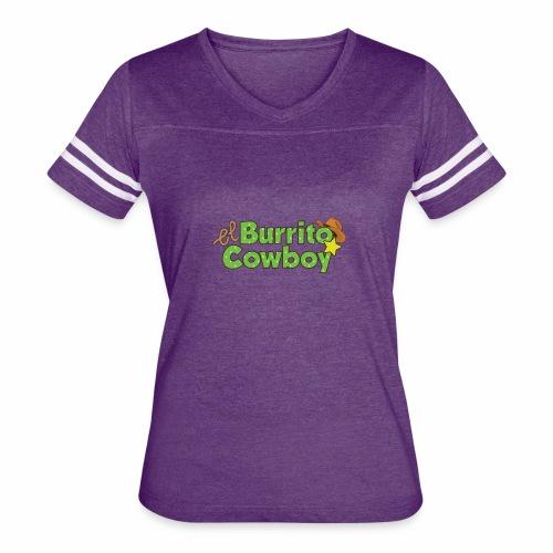 El Burrito Cowboy LOGO - Women's Vintage Sport T-Shirt