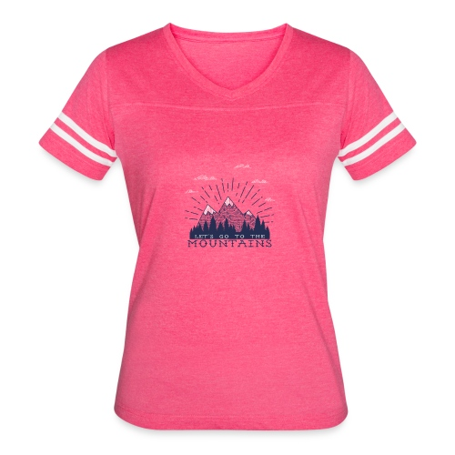 Adventure Mountains T-shirts and Products - Women's Vintage Sport T-Shirt