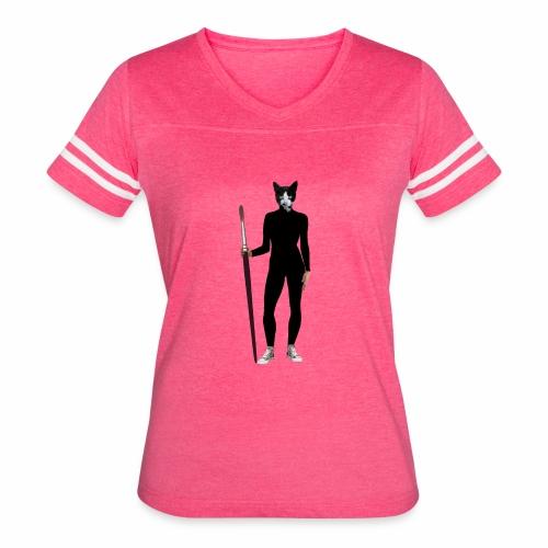 Cat Artist - Women's Vintage Sport T-Shirt