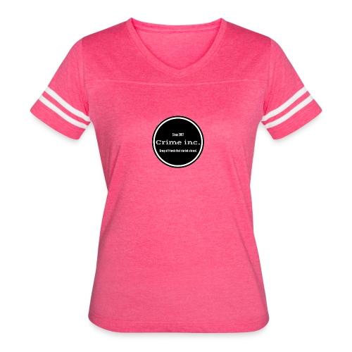 Crime Inc Small Design - Women's Vintage Sport T-Shirt