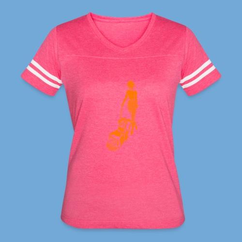 Roto-Hoe Orange - Women's Vintage Sport T-Shirt