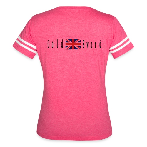 UK Gold and Sword D Day Beaches - Women's Vintage Sport T-Shirt