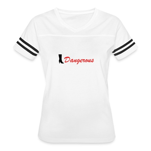Black&Red Women's T-Shirt Edition Dangerous 👠 - Women's Vintage Sport T-Shirt