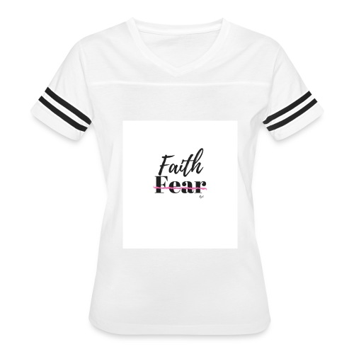 FAITH over Fear - Women's Vintage Sport T-Shirt