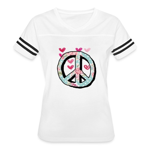 Peace and love cute shirts - Women's Vintage Sport T-Shirt