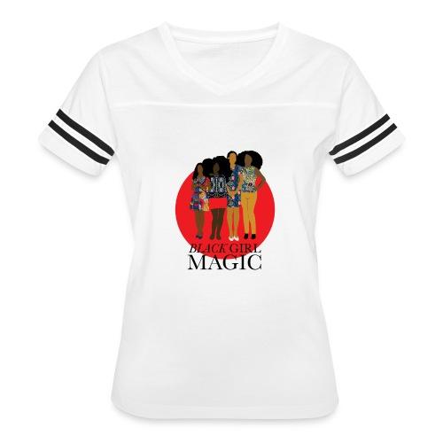 Red Pink Black girl Magic Design 2 - Women's Vintage Sport T-Shirt