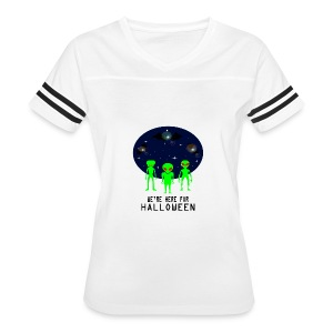 WE'RE HERE FOR HALLOWEEN - Women's Vintage Sport T-Shirt